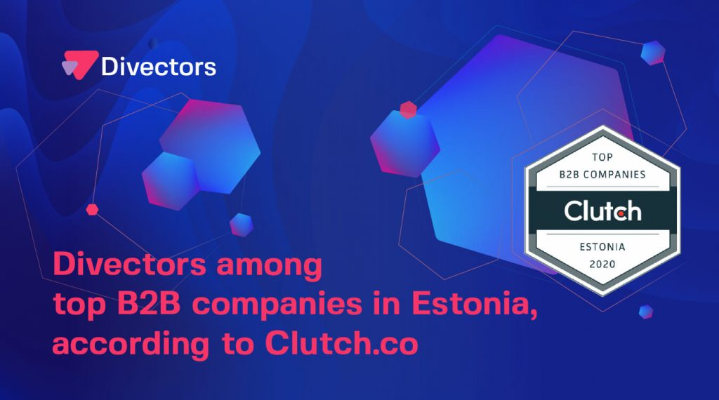 Divectors among top b2b companies in Estonia on Clutch.co